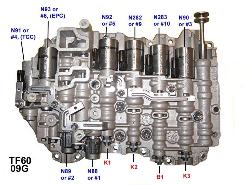 09G transmission valve body