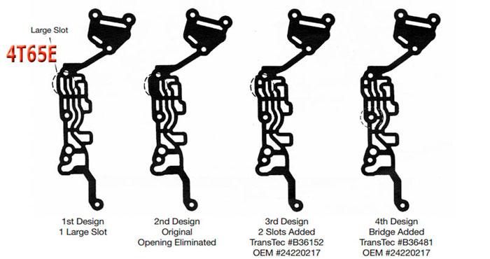 4t65E valve body seals
