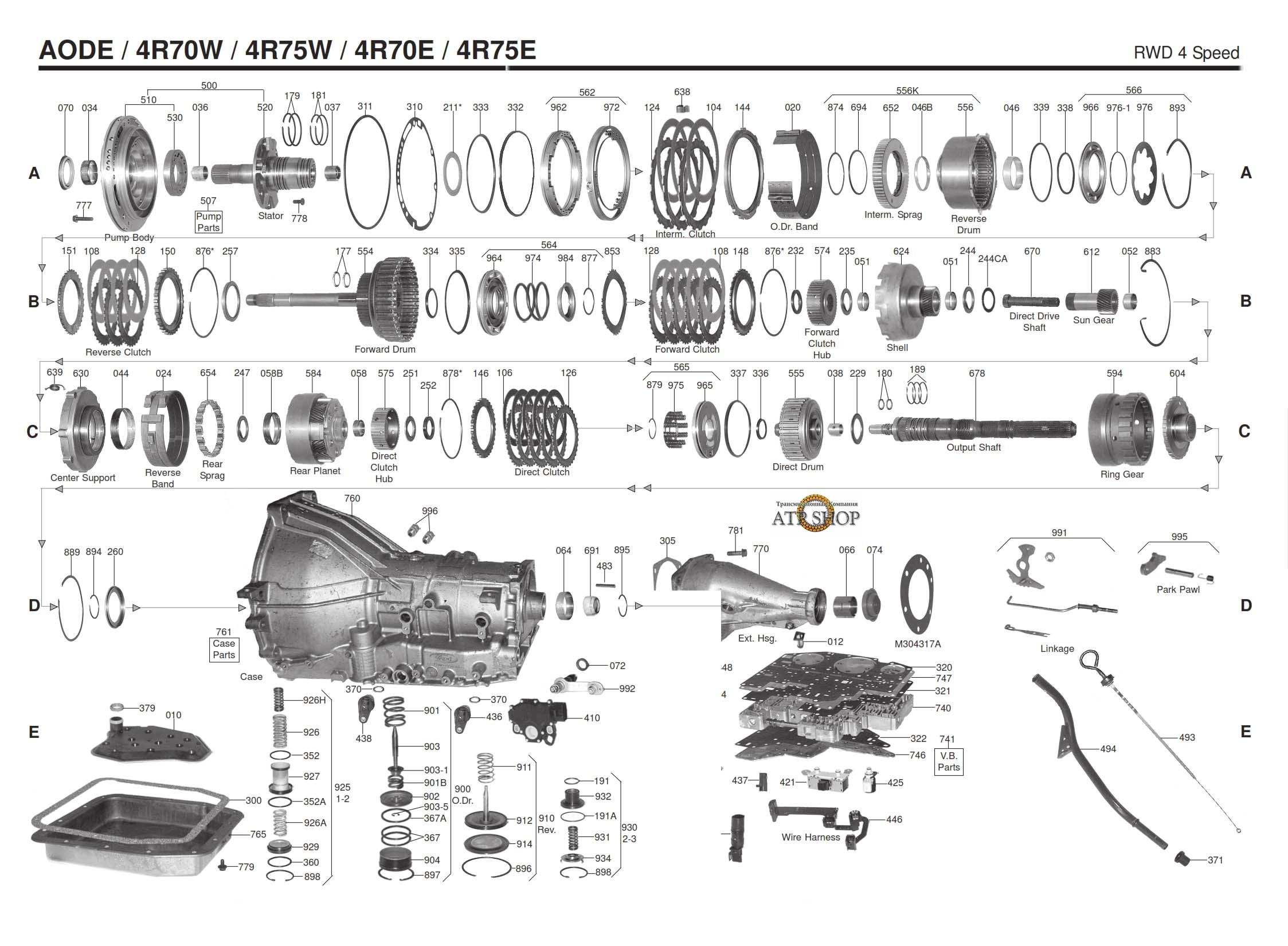 4r70w Transmission Repair Manuals  Aod