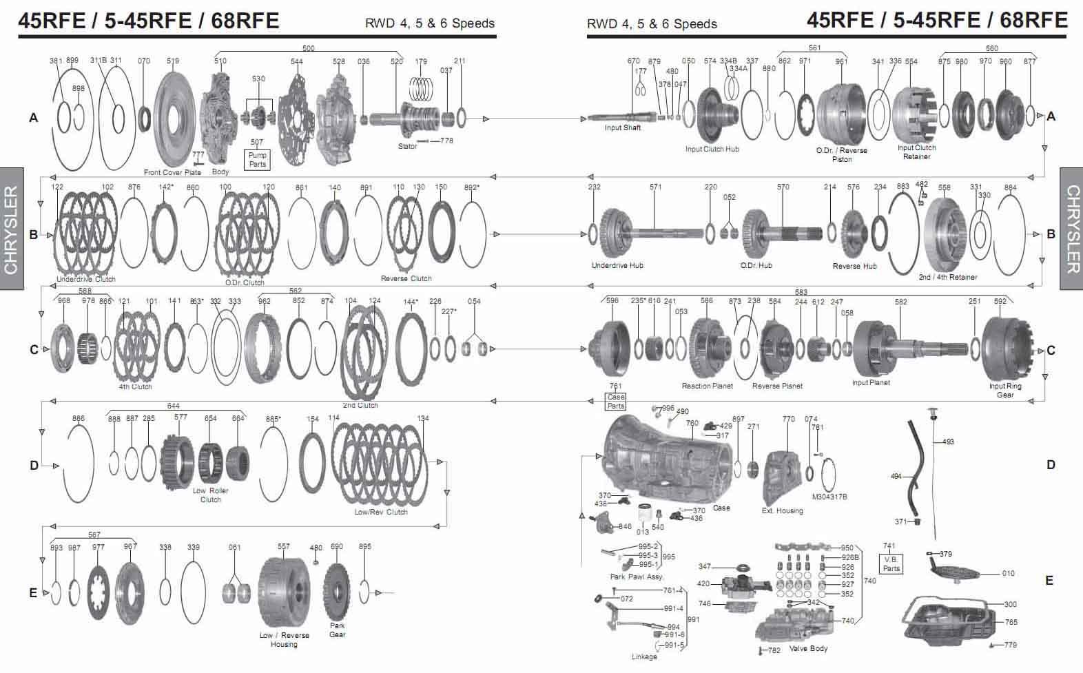 transmission repair manuals 68rfe