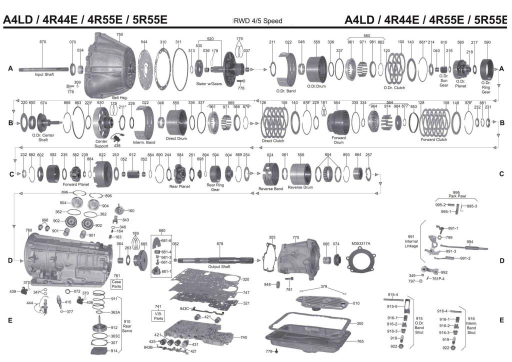 A4LD transmission diagram scheme 4r44e