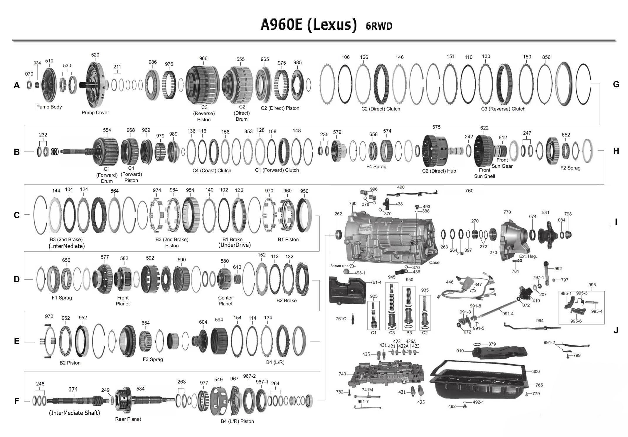 transmission A960E scheme