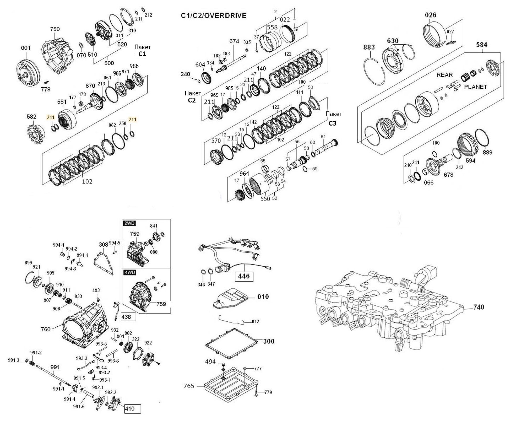 automatic transmission rebuild kits instructions