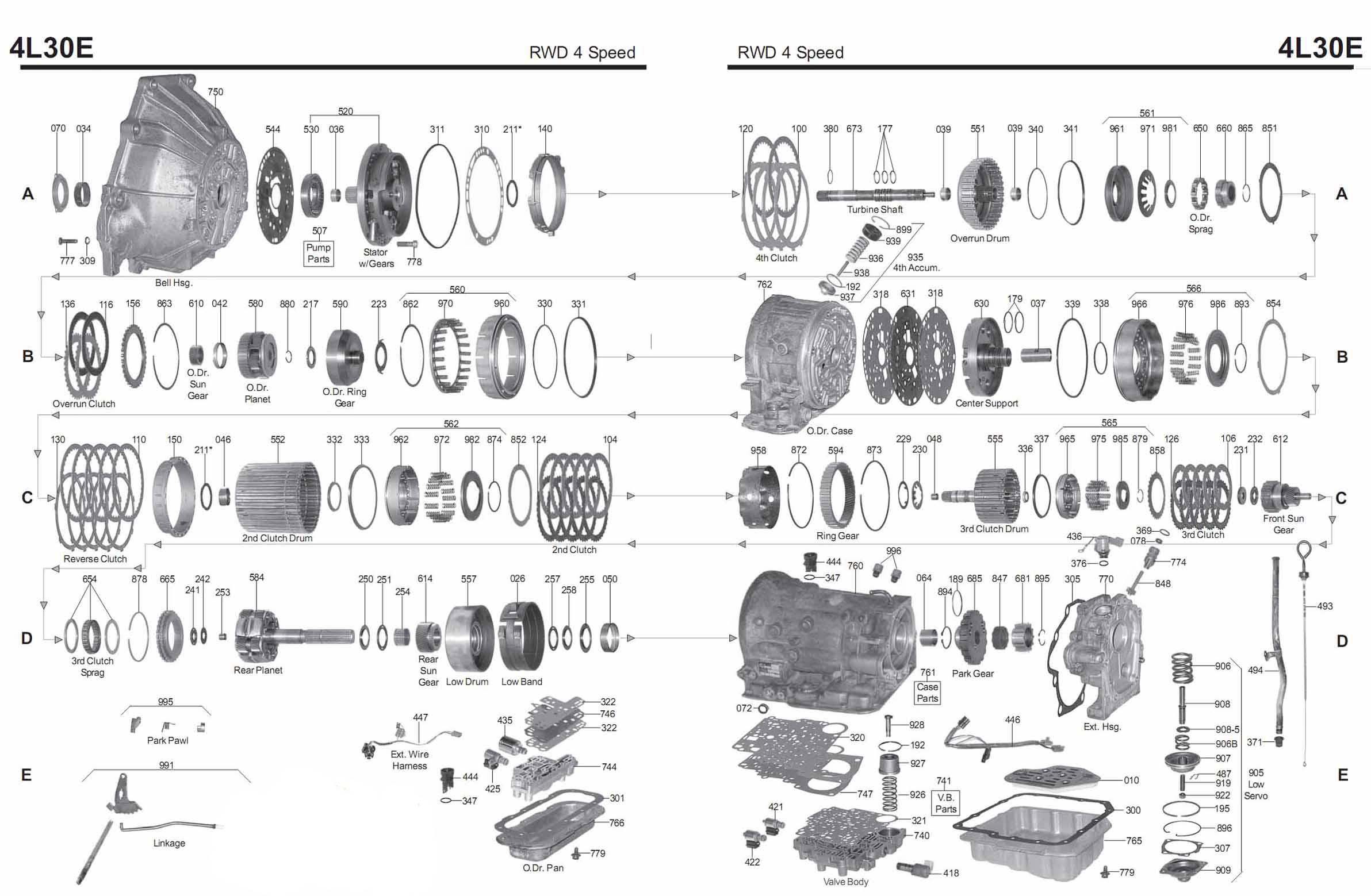 Transmission repair manuals 4L30E | Instructions for ...