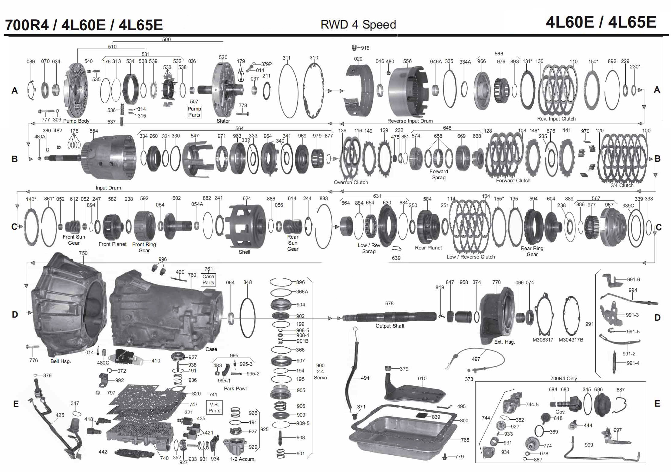 4 L 60 E Valve Body Diagram