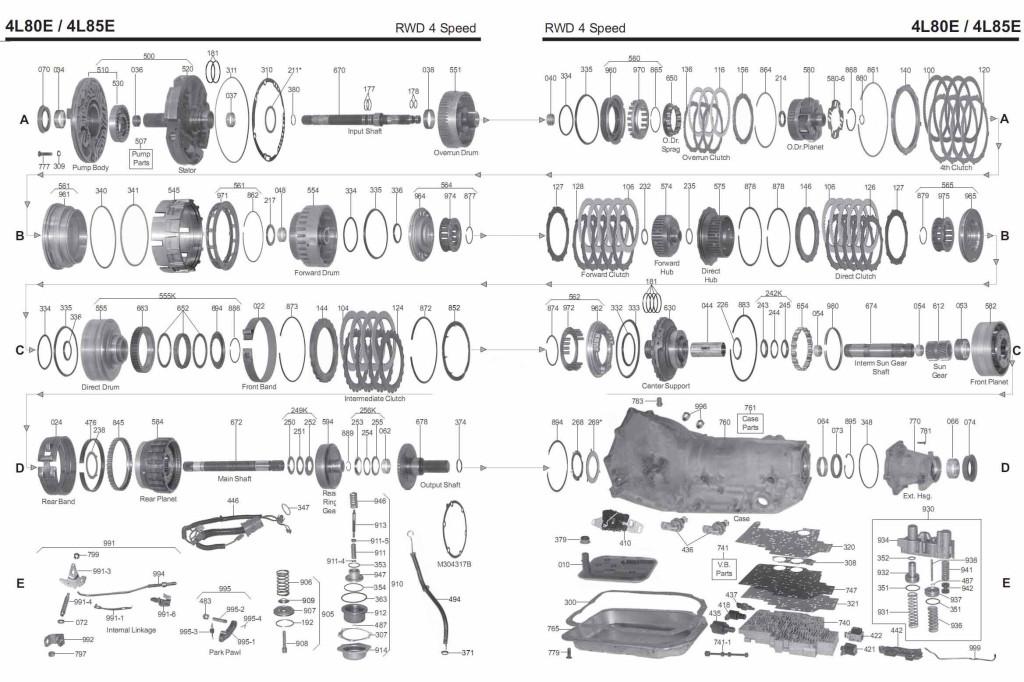 4L80E transmission diagram scheme