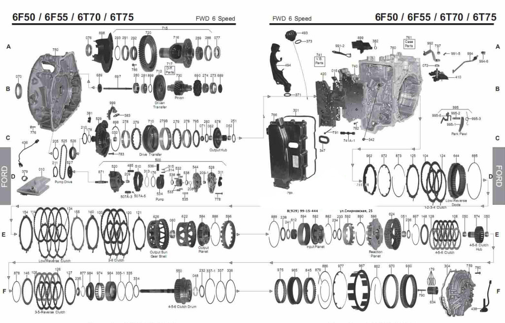 Manual for transmission 6T70