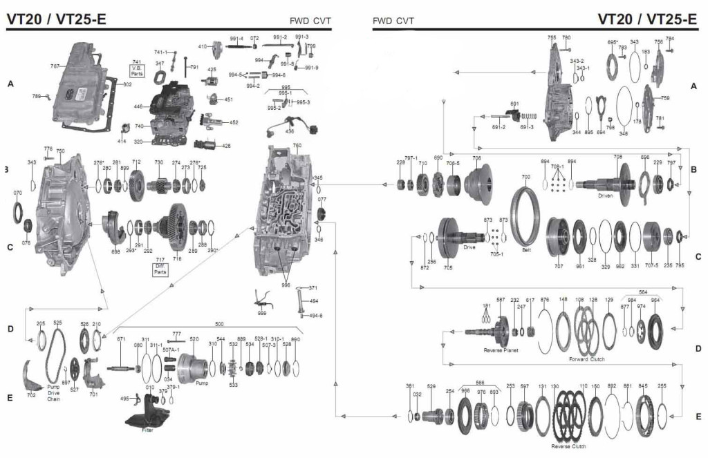 Transmission Repair Manuals Gm Vt25e  Saturn