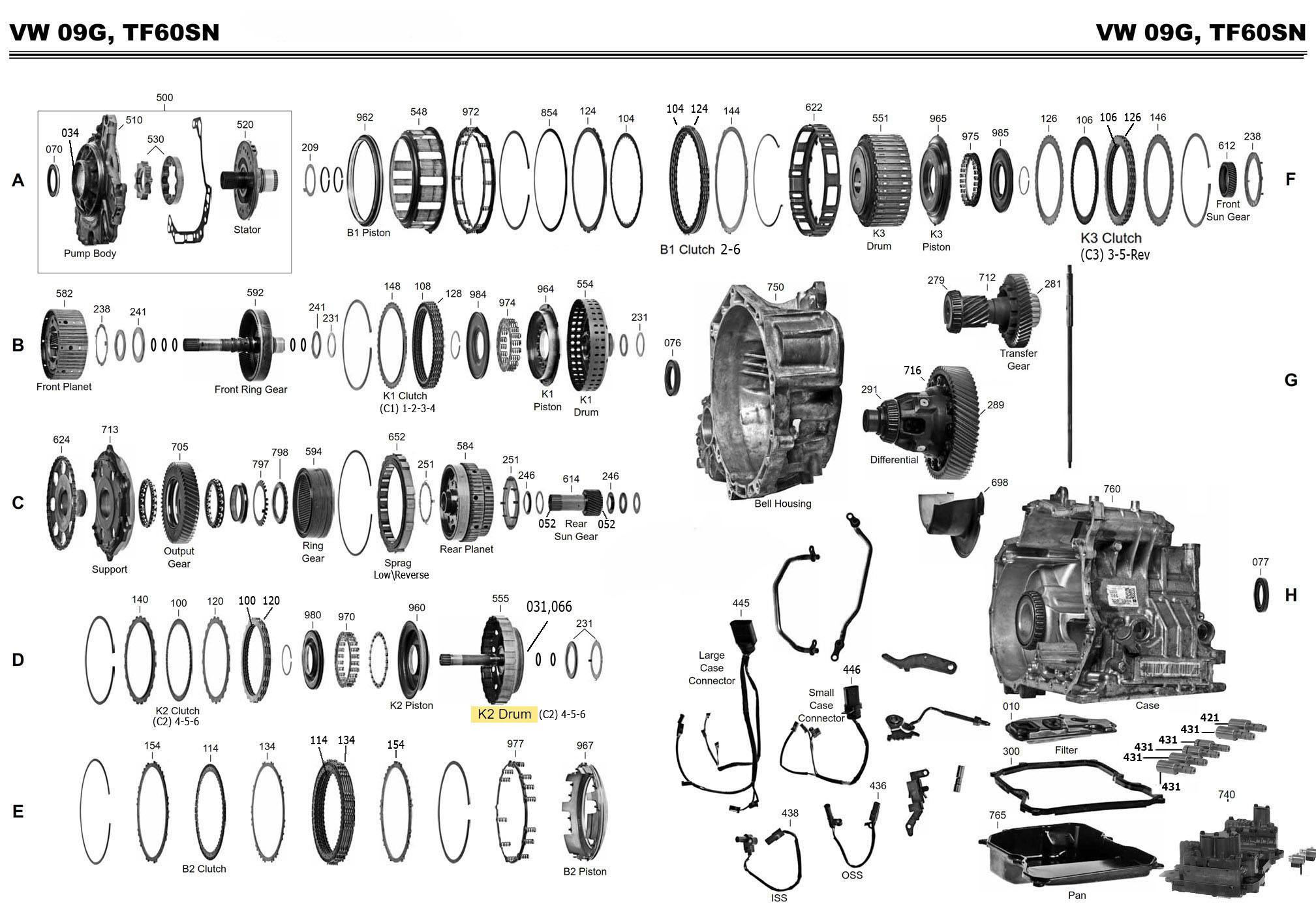 vw 09g transmission diagram vw type 2 transmission