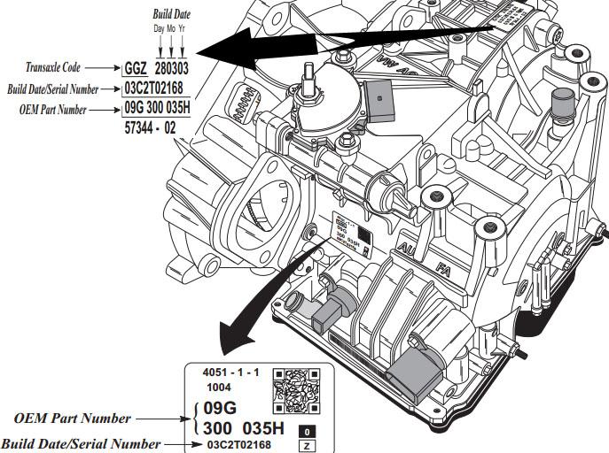 transmission code 09G TF60SN