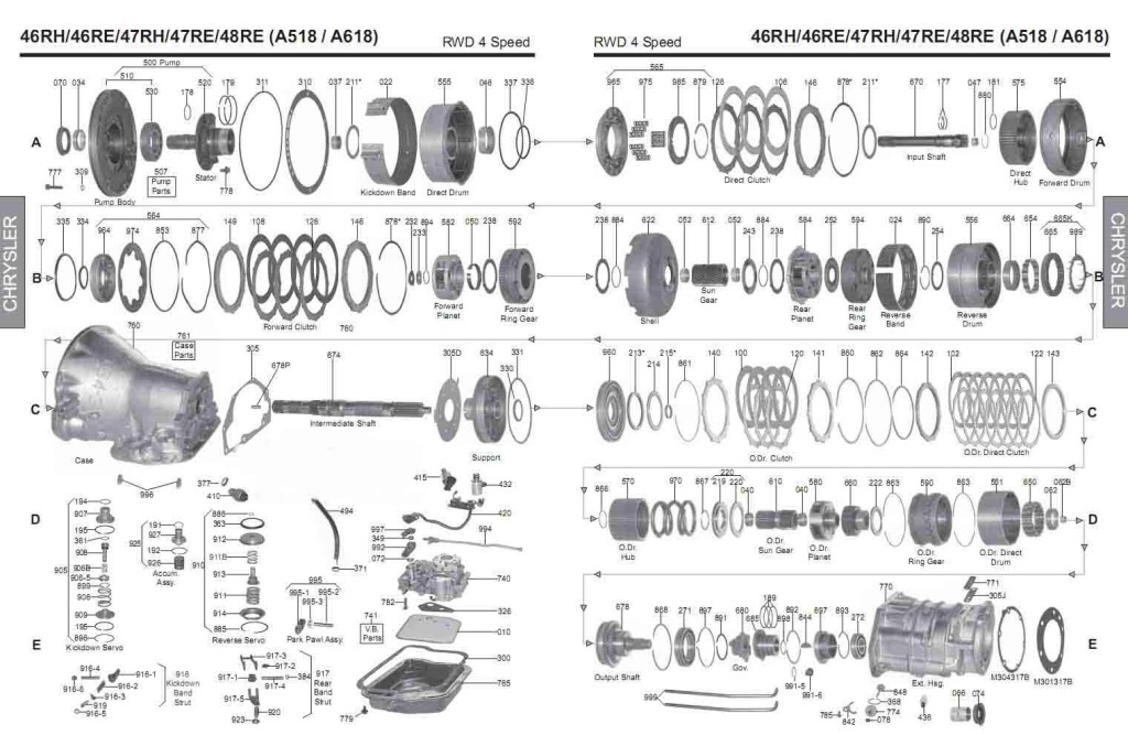 46rh Transmission Repair Manuals 46re 47rh A518 A618 Manual Guide