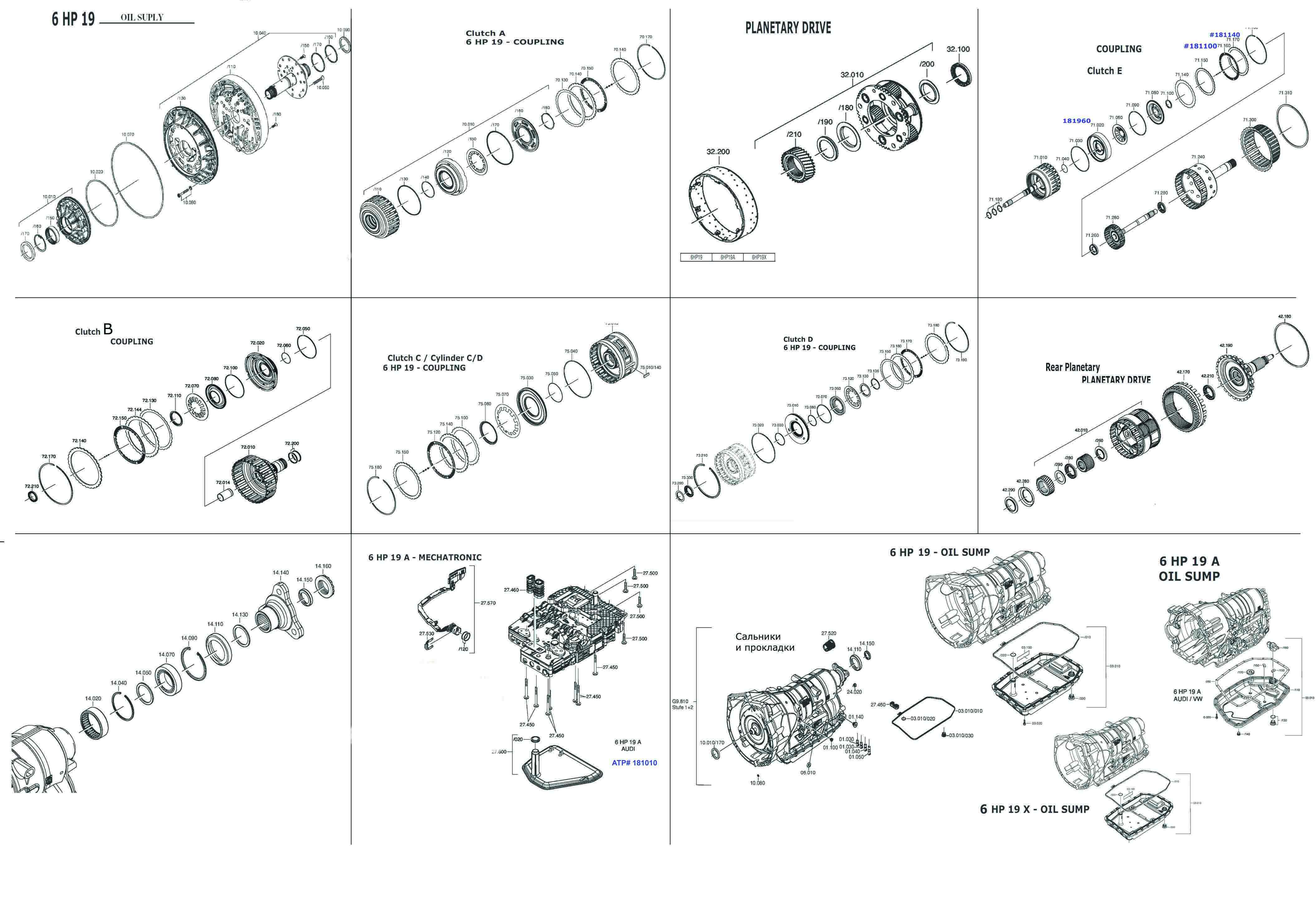 Transmission Repair Manuals 09l Zf 6hp19 Instructions