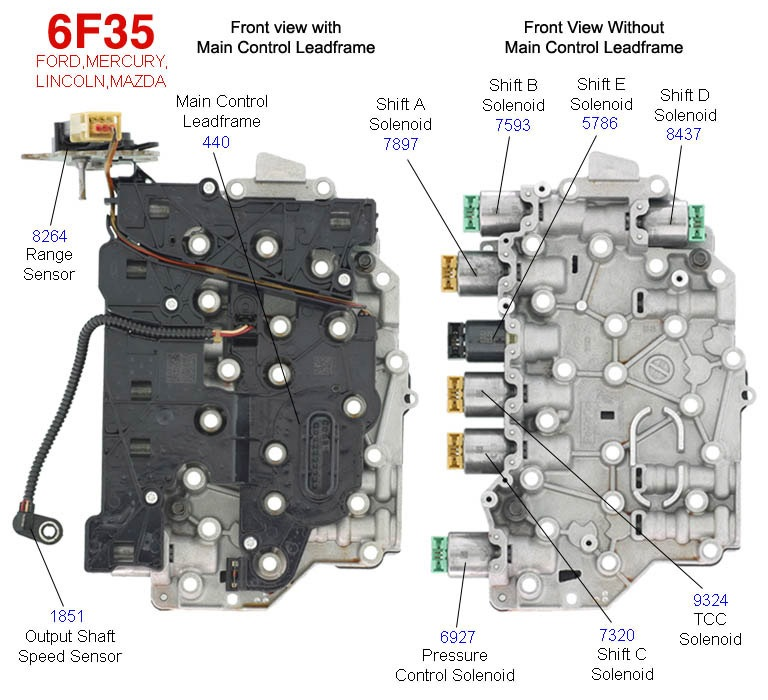 6F35 valve body