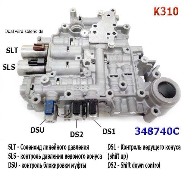 K310_valve_body_solenoid_scheme