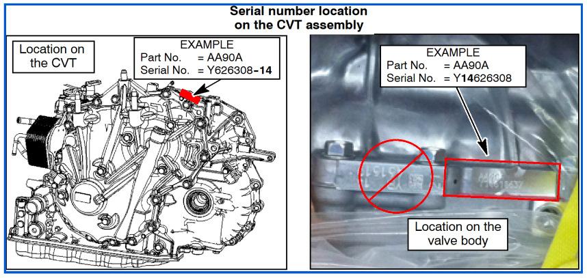 jf016e cvt serial number
