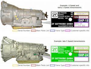 zf transmission identify